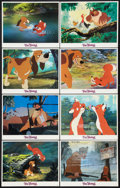 "Movie Posters:Animated, The Fox and the Hound Lot (Buena Vista, 1981). International Lobby Card Set of 8 (11"" X 14""), and Two Additional Sets of Lob... (Total: 24 Items)"