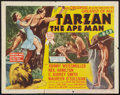 "Movie Posters:Adventure, Tarzan the Ape Man Lot (MGM, R-1954). Half Sheet (22"" X 28"") StyleA. Adventure.. ... (Total: 2 Items)"
