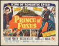 "Movie Posters:Adventure, Prince of Foxes Lot (20th Century Fox, 1949). Half Sheets (2) (22""X 28""). Adventure.. ... (Total: 2 Items)"
