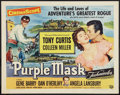 "Movie Posters:Adventure, The Purple Mask (Universal International, 1955). Half Sheets (6)(22"" X 28"") Style A. Adventure.. ... (Total: 6 Items)"