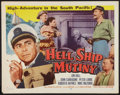 "Movie Posters:Adventure, Hell Ship Mutiny Lot (Republic, 1957). Half Sheets (4) (22"" X 28"")Style B. Adventure.. ... (Total: 4 Items)"