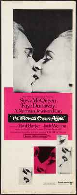 "The Thomas Crown Affair (United Artists, 1968). Insert (14"" X 36""). Crime"