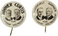 Political:Pinback Buttons (1896-present), Roosevelt & Garner and Hoover & Curtis: Two Lithographed Jugates.... (Total: 2 Items)