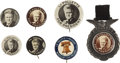 """Political:Pinback Buttons (1896-present), Robert LaFollette: Seven """"Fighting Bob"""" Buttons from 1924.... (Total: 7 Items)"""