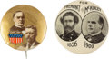Political:Pinback Buttons (1896-present), William McKinley: Pair of Terrific Buttons.... (Total: 2 Items)