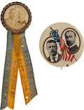 Political:Pinback Buttons (1896-present), Roosevelt & Fairbanks: Great Pair of Jugates.... (Total: 2 Items)