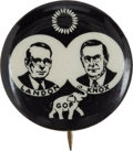 Political:Pinback Buttons (1896-present), Landon & Knox: The Extremely Rare Black and White Sample Jugatewhich Matches the FDR & Garner Example also Offered in thisAu...