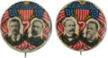 """Political:Pinback Buttons (1896-present), Roosevelt & Fairbanks and Parker & Davis: A Scarce and Colorful 1¼"""" Jugate Pair. ... (Total: 2 Items)"""