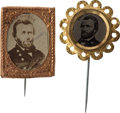 Political:Ferrotypes / Photo Badges (pre-1896), Ulysses S. Grant: Pair of Campaign Badges.... (Total: 2 Items)