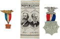 Political:Miscellaneous Political, Rutherford B. Hayes and Benjamin Harrison: Lot of Three Items....(Total: 3 Items)