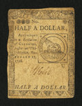 Colonial Notes:Continental Congress Issues, Continental Currency February 17, 1776 $1/2 Fine.. ...