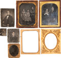 Photography, Six Early Daguerreotypes and Tintypes....