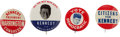 Political:Pinback Buttons (1896-present), John F. Kennedy: Four Uncommon 1960 Campaign Pinbacks.... (Total: 4 Items)