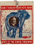 Political:Small Paper (1896-present), Warren G. Harding: Rare Cardboard Tag from the 1920 Campaign withOriginal Pin....