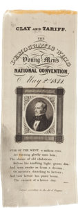 Political:Ribbons & Badges, Henry Clay: Wonderful Henry Clay Whig Convention Ribbon....