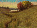Paintings, FROM A PRIVATE CALIFORNIA COLLECTION. EANGER IRVING COUSE (American, 1866-1936). Landscape at Dawn. Oil on masonite. 9...