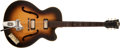 Musical Instruments:Electric Guitars, 1960s Hofner Electric Sunburst Guitar, (no serial number)....