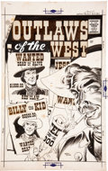 Original Comic Art:Covers, Maurice Whitman Outlaws of the West #11 Cover Original Art(Charlton, 1957)....