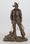 Sculpture, PROPERTY OF A PROMINENT TEXAS COLLECTOR. GEORGE PHIPPEN (American, 1915-1966). Cowboy, 1966. Bronze. 12 x 8 x 6-1/2 in...