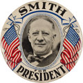 Political:Pinback Buttons (1896-present), Al Smith: Large Celluloid Picture Pin....