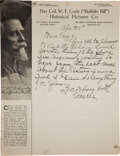 "Autographs:Celebrities, William F. ""Buffalo Bill"" Cody: Autograph Letter Signed""Uncle"" on His Historical Pictures Co. Letterhead...."