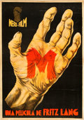 "Movie Posters:Crime, M (Nero-Film AG, 1931). Spanish One Sheet (29.75"" X 43"").. ..."
