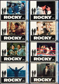 "Movie Posters:Academy Award Winners, Rocky (United Artists, 1977). CGC Graded Lobby Card Set of 8 (11"" X14"").. ... (Total: 8 Items)"