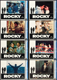 """Rocky (United Artists, 1977). CGC Graded Lobby Card Set of 8 (11"""" X 14""""). ... (Total: 8 Items)"""