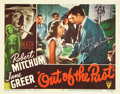 "Movie Posters:Film Noir, Out of the Past (RKO, 1947). Autographed Lobby Card (11"" X 14"")....."