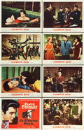 "Movie Posters:Elvis Presley, Jailhouse Rock (MGM, 1957). Lobby Card Set of 8 (11"" X 14"").. ...(Total: 8 Items)"