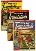 Golden Age (1938-1955):Romance, Teen-Age Temptations #1, 2, and 4 Group (St. John, 1952-53)....(Total: 3 Comic Books)