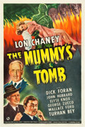 "Movie Posters:Horror, The Mummy's Tomb (Universal, 1942). One Sheet (27"" X 41"").. ..."