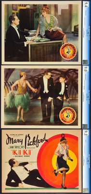 """Kiki (United Artists, 1931). CGC Graded Title Lobby Card and Lobby Cards (2) (11"""" X 14""""). ... (Total: 3 Items)"""