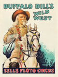 "Movie Posters:Western, Buffalo Bill Wild West and Sells Floto Circus (Circus Poster,1926). Circus Poster (20.5"" X 27"").. ..."