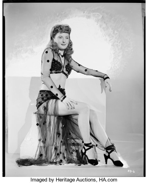 Barbara Stanwyck (1940s)  Kodak Safety Film Negative (7 75