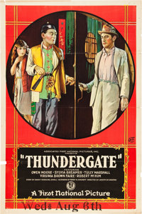 """Thundergate (First National, 1923). One Sheet (27"""" X 41"""")"""