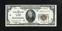 Fr. 1870-H $20 1929 Federal Reserve Bank Note. Choice Crisp Uncirculated