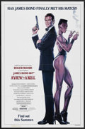 "Movie Posters:James Bond, A View to a Kill (MGM, 1985). One Sheet (27"" X 41"") Advance StyleA. James Bond. ..."