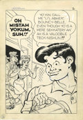 Original Comic Art:Splash Pages, Frank Frazetta and Al Capp - Li'l Abner and the Creatures FromDrop-Outer Space, Splash Page 2 Original Art (Job Corps Give-Aw...