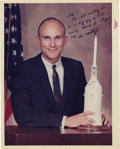 """Autographs:Celebrities, Ken Mattingly Signed Color Photograph, 8"""" x 10"""", """"Joe-/ I'mstill waiting to/ be a big guy by Christmas./ Seriously - than...(Total: 1 Item)"""