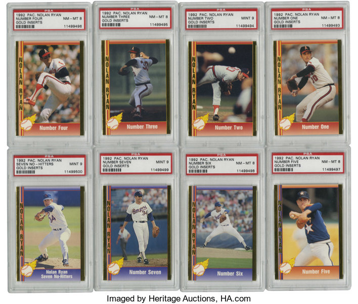 1992 Pacific Nolan Ryan Gold Inserts Psa Graded Group Lot Of