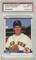 Baseball Cards:Singles (1970-Now), 1984 Fleer Update Roger Clemens #U-27 PSA Gem Mint 10. Flawless debut card featuring the man who many consider among the gr...