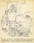 Original Comic Art:Miscellaneous, Paul Murry - Gag Panel Preliminary Sketch Original Art (undated).....