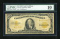 Large Size:Gold Certificates, Fr. 1173* $10 1922 Gold Certificate Star Note PMG Very Good 10. ...