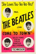 "Movie Posters:Documentary, The Beatles Come to Town (Pathé, 1964). One Sheet (27"" X 41"") Silk Screen Style.. ..."