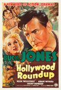 "Movie Posters:Western, Hollywood Roundup (Columbia, 1937). One Sheet (27"" X 41"").. ..."