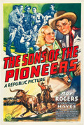 """Movie Posters:Western, Sons of the Pioneers (Republic, 1942). One Sheet (27"""" X 41"""").. ..."""