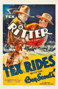 "Movie Posters:Western, Tex Rides with the Boy Scouts (Grand National, 1938). One Sheet (27"" X 41"").. ..."