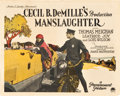 "Movie Posters:Drama, Manslaughter (Paramount, 1922). Title Lobby Card (11"" X 14"").. ..."