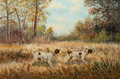 Texas, WILLIAM ROBERT THRASHER (American, 1908-1997). Bird Dogs.Oil on canvas. 24 x 36 inches (61.0 x 91.4 cm). Signed lower r...